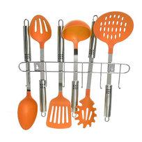 Набор кухонных принадлежностей на подвеске 6 шт оранжевый цвет купить оптом и в розницу