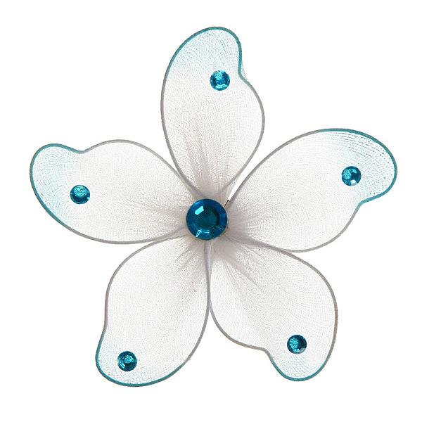 Украшение декоративное 8см Цветочек Романтика на булавке 2 купить оптом и в розницу