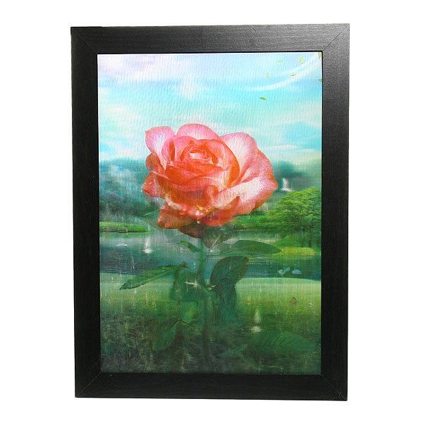 Картина голограмма 35*50см ″Роза″ 822 купить оптом и в розницу