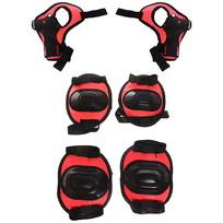 Защита комплект универсальный KL-221 (колени,локоть,кисть,4-7 лет) цв.красный купить оптом и в розницу