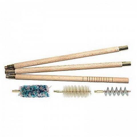 Набор для чистки оружия MegaLine 16к (деревянный шомпол, 3 ерша) купить оптом и в розницу