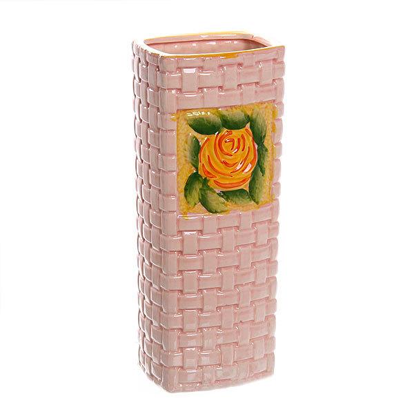 Ваза керамическая ″Роза оранжевая″ 26 см купить оптом и в розницу