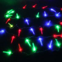 Гирлянда светодиодная 5,5м, 32 ламп LED, Сосульки с пузырькакми, RG\RB(красный,зеленый/красный,синий), пр/пров купить оптом и в розницу