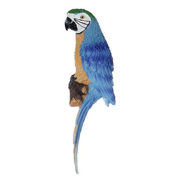 Садовая фигура ″Попугай ара″, подвесная, на стену, полистоун, 32 см купить оптом и в розницу