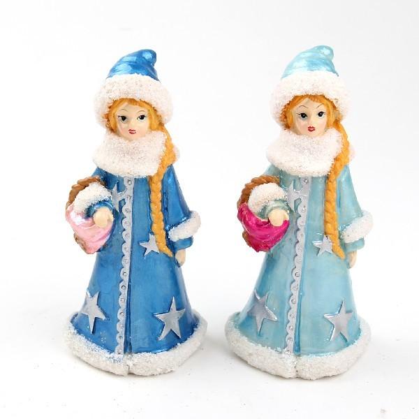 Фигурка ″Снегурочка с лукошком″ 14см купить оптом и в розницу