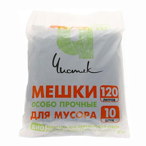 Мешки для мусора 120 л, 10 шт ″Чистяк″ купить оптом и в розницу