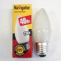 Лампа накаливания Navigator NI-В-40Вт-E27-230В-FR матов.свеча (10/100) купить оптом и в розницу