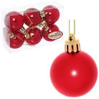Новогодние шары 4 см (набор 6 шт) ″Глянец″, красный купить оптом и в розницу