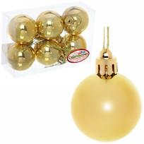 Новогодние шары 4 см (набор 6 шт) ″Глянец″, золотой купить оптом и в розницу