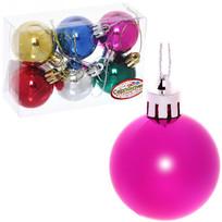Новогодние шары 4 см (набор 6 шт) ″Глянец″, микс купить оптом и в розницу