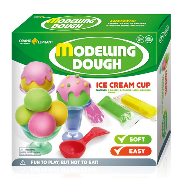 Набор ДТ Тесто для лепки Мороженое в вазочке 23332/OE-MD/3ICC2 купить оптом и в розницу