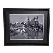 Картина ламинированная 30*40см в двойной раме ″Города и страны″, бухта купить оптом и в розницу