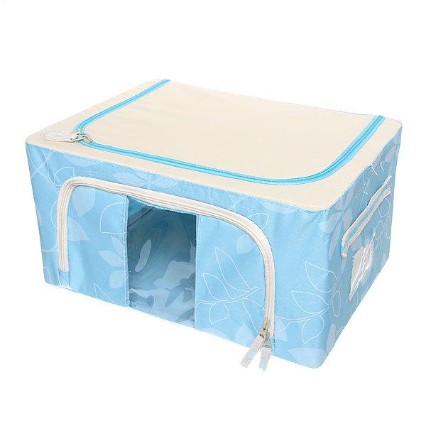 Коробка д/хранения вещей 39*29*20 22л. синий E купить оптом и в розницу