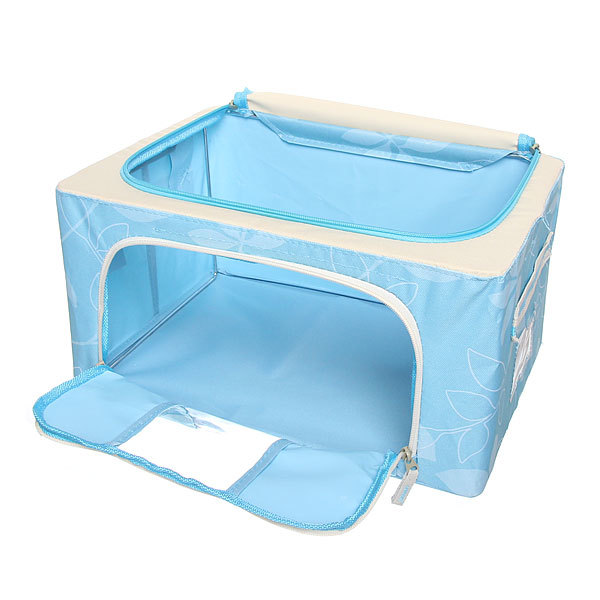 Коробка для хранения вещей 39*29*20 22л. синий E купить оптом и в розницу