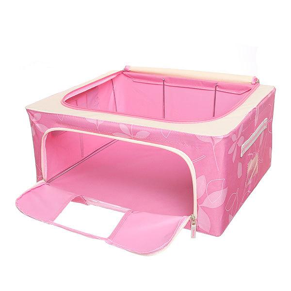 Коробка д/хранения вещей 50*40*22 44л. розовый F купить оптом и в розницу