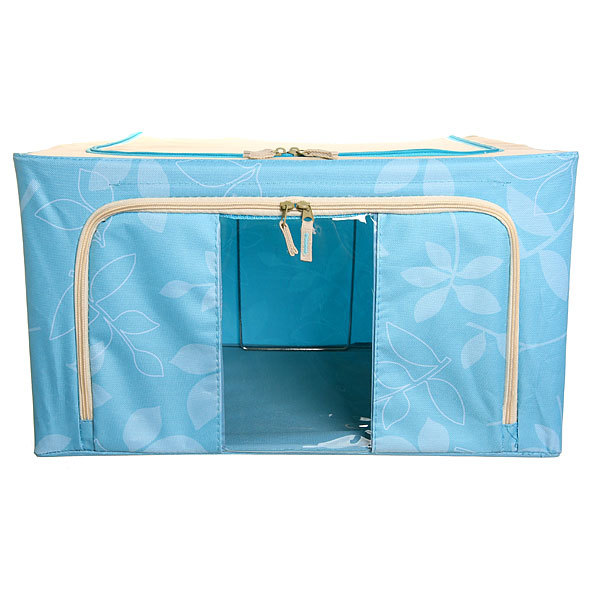Коробка д/хранения вещей 50*40*28 55л. синий E купить оптом и в розницу