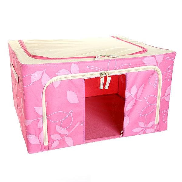 Коробка д/хранения вещей 50*40*28 55л. розовый F купить оптом и в розницу