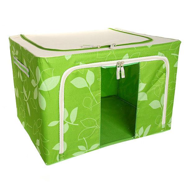 Коробка д/хранения вещей 50*40*33 66л. зеленый A купить оптом и в розницу