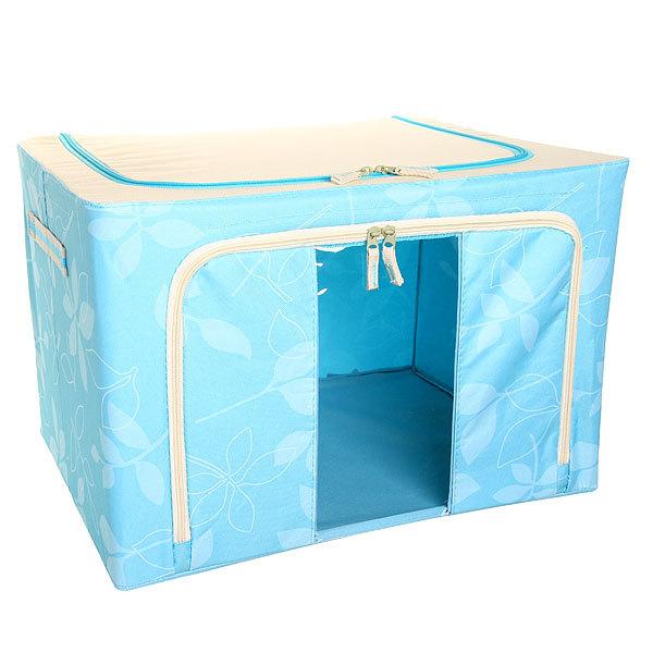 Коробка д/хранения вещей 50*40*33 66л. синий E купить оптом и в розницу