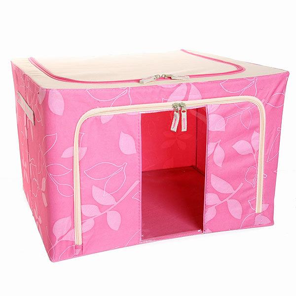 Коробка для хранения вещей 50*40*33 66л. розовый F купить оптом и в розницу