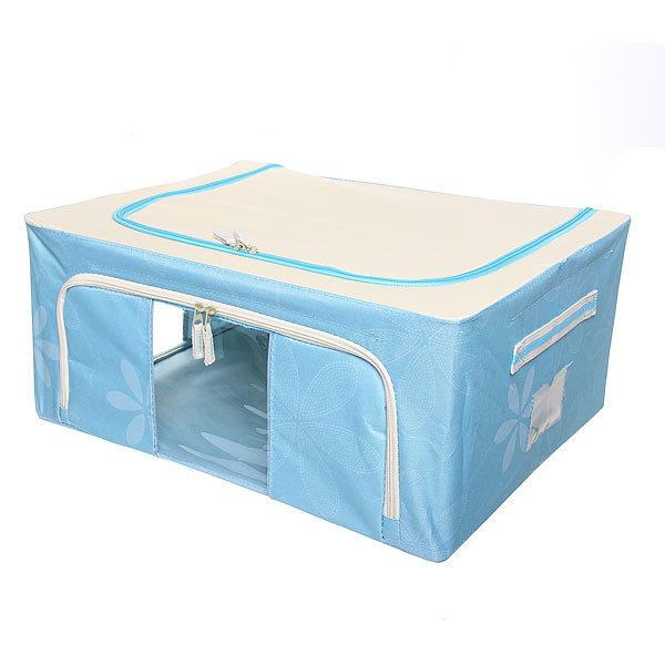 Коробка д/хранения вещей 50*40*22 44л. синий E2 купить оптом и в розницу