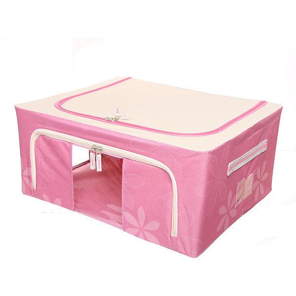 Коробка д/хранения вещей 50*40*22 44л. розовый F2 купить оптом и в розницу