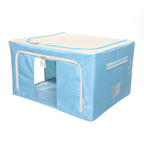 Коробка д/хранения вещей 50*40*28 55л. синий E2 купить оптом и в розницу