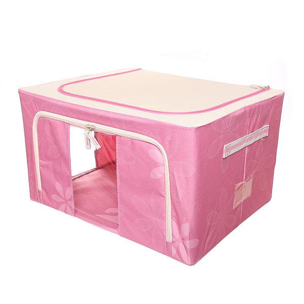 Коробка д/хранения вещей 50*40*28 55л. розовый F2 купить оптом и в розницу