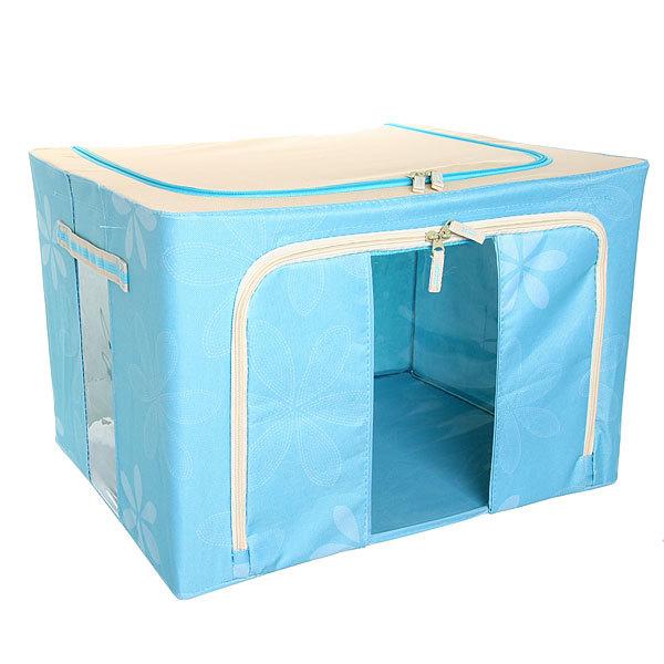 Коробка д/хранения вещей 50*40*33 66л. синий E2 купить оптом и в розницу