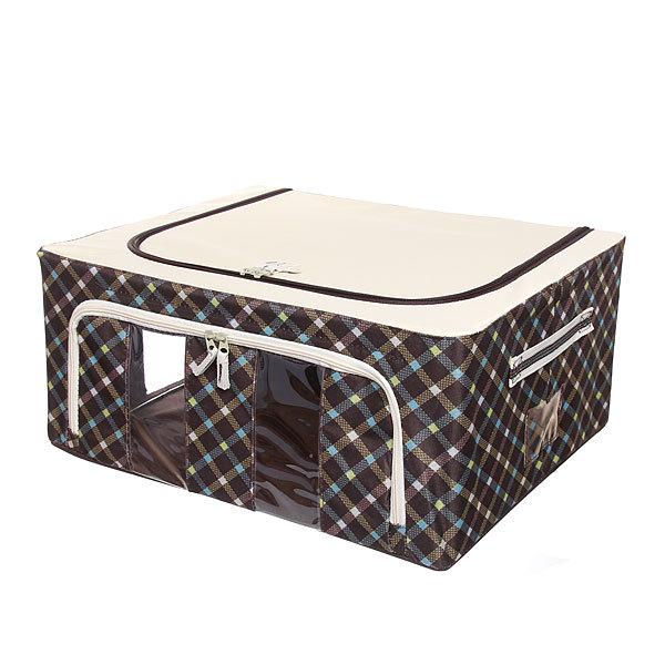Коробка д/хранения вещей 50*40*22 44л. клетка купить оптом и в розницу