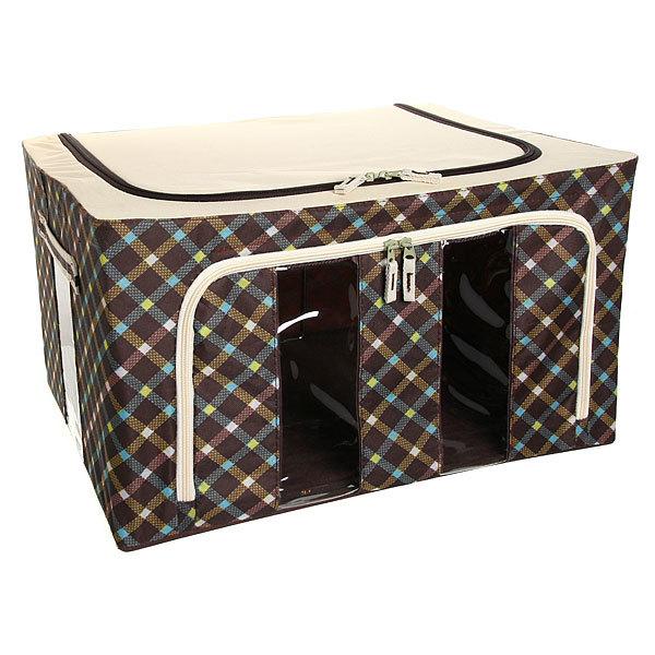 Коробка д/хранения вещей 50*40*28 55л. клетка купить оптом и в розницу