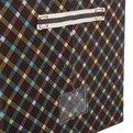 Коробка д/хранения вещей 50*40*33 66л. клетка купить оптом и в розницу
