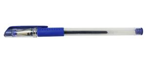 Ручка гел.YIWU 0,5мм синяя, мет. након., резин. грип купить оптом и в розницу