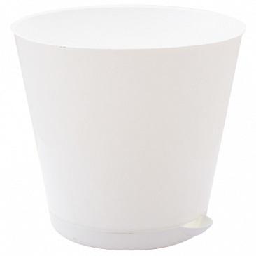 Горшок для цветов Крит D 120 mm с системой прикорневого полива 0,7л белый*16 купить оптом и в розницу