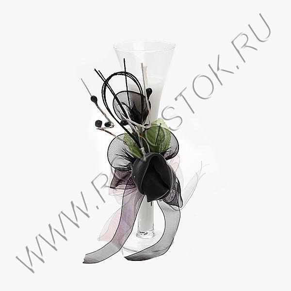 Свеча гелевая ″Подарочная-1″ 19 см купить оптом и в розницу