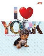"""Тетрадь 48л.кл.скрепка HATBER, """"I love York"""", выб.лак купить оптом и в розницу"""