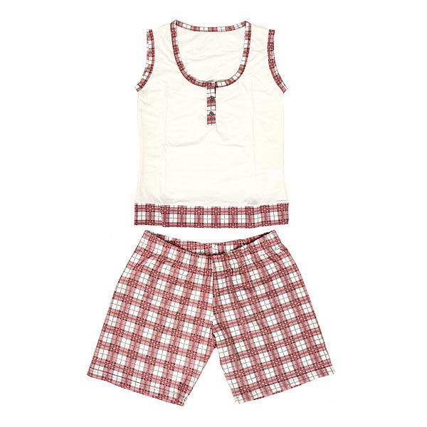 Пижама женская цвет бело-розовый арт. 12 р-р 52 купить оптом и в розницу