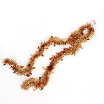 Мишура новогодняя 2 метра 6см ″Елочки″, оранжевый купить оптом и в розницу