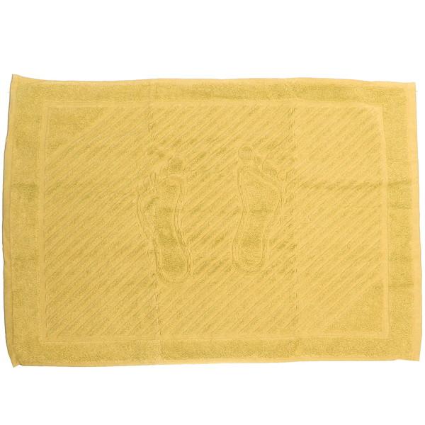 Махровое полотенце для ног 50*70см желтое купить оптом и в розницу