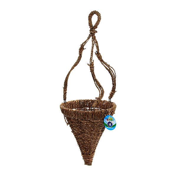 Кашпо для цветов садовое ″Плетеное подвесное конус″ 20х22см В-456 купить оптом и в розницу