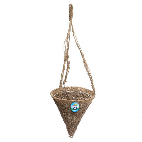 Кашпо для цветов садовое ″Плетеное подвесное конус″ 25х26см В-456 купить оптом и в розницу