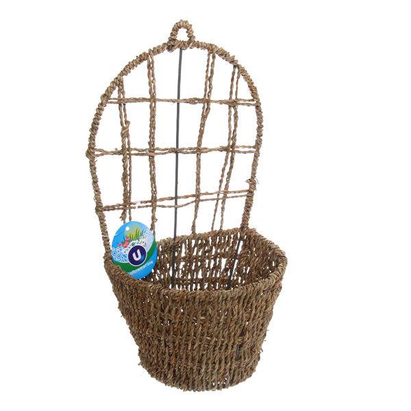 Кашпо для цветов садовое ″Плетеное настенное ″ 16х29см В-459 купить оптом и в розницу