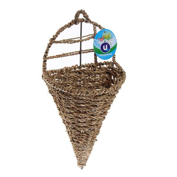 Кашпо для цветов садовое ″Плетеное настенное конус″ 15х29см В-460 купить оптом и в розницу
