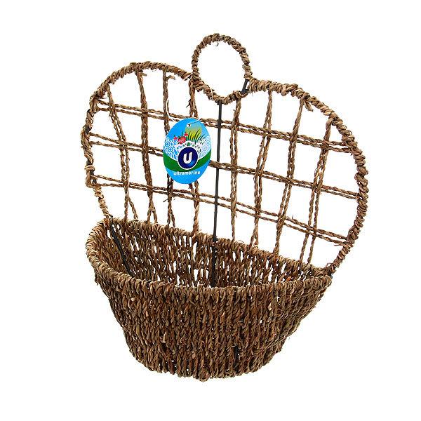 Кашпо для цветов садовое ″Плетеное настенное ″ 23х24см В-461 купить оптом и в розницу