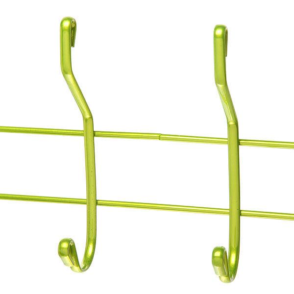 Вешалка надверная 4 крючка 33х19см HP012-C зеленая купить оптом и в розницу