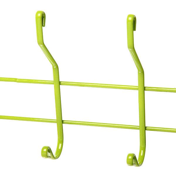 Вешалка надверная 6 крючков 50х19см HP004-C зеленая купить оптом и в розницу
