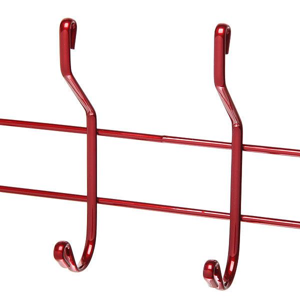Вешалка надверная 4 крючка 33х19см HP012-C красная купить оптом и в розницу