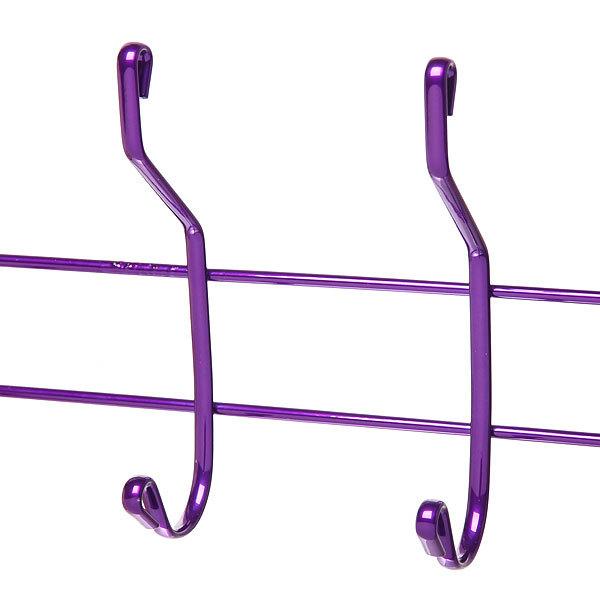Вешалка надверная 5 крючков 41х19см HP008-C фиолетовая купить оптом и в розницу
