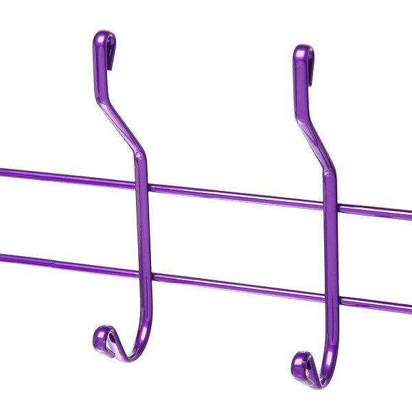 Вешалка надверная 6 крючков 50х19см HP004-C фиолетовая купить оптом и в розницу