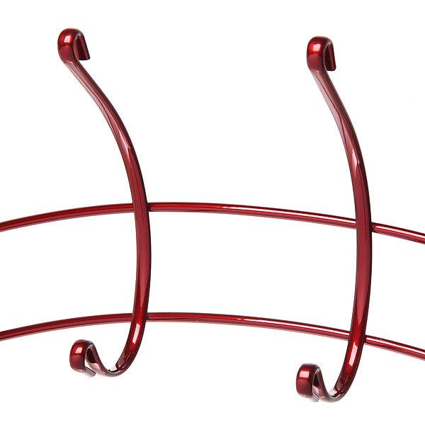 Вешалка надверная 6 крючков 45х18см HP133-C красная купить оптом и в розницу